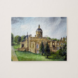 Aquarell-Malerei Schloss-Howards North Yorkshire Puzzle