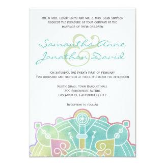 Aquarell-Mandala-Hochzeits-Einladung 12,7 X 17,8 Cm Einladungskarte
