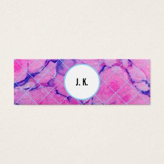 Aquarell-Marmor Mini Visitenkarte