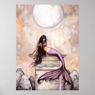 Aquarell-Meerjungfrau-Plakat-Druck durch Molly Har Poster