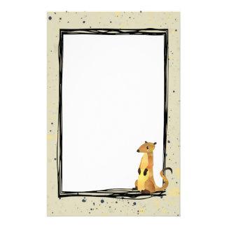 Aquarell Meerkat auf einem beige Hintergrund Briefpapier