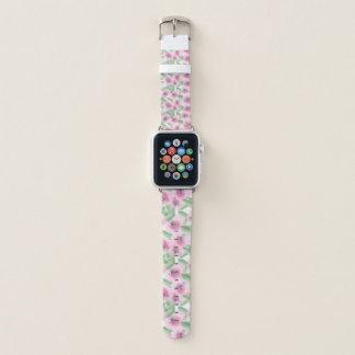 Aquarell mit Blumen Apple Watch Armband