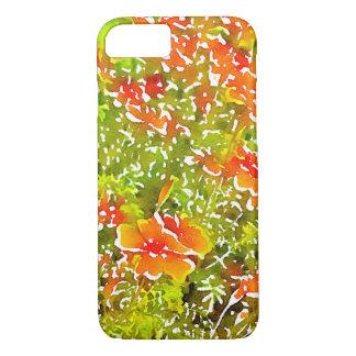 Aquarell-Mohnblumen iPhone 8/7 Hülle