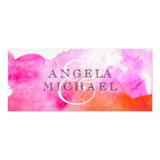 Aquarell-Motiv 10,2 X 23,5 Cm Einladungskarte