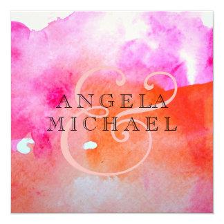 Aquarell-Motiv Quadratische 13,3 Cm Einladungskarte