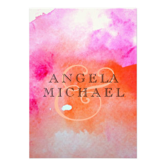 Aquarell-Motiv Individuelle Ankündigungskarte