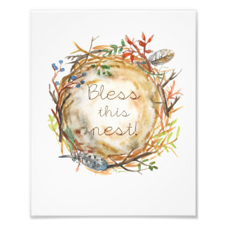 Aquarell-Nest Fotodruck
