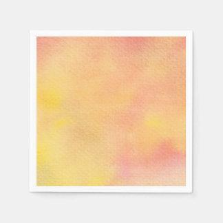 Aquarell-orange Rosa - alle Wahlen Papierserviette