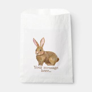 Aquarell-Osterhasen-Kaninchen Geschenktütchen