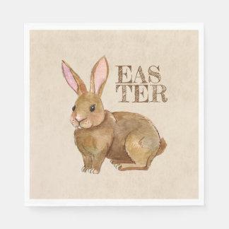 Aquarell-Osterhasen-Kaninchen Papierserviette
