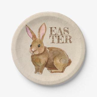 Aquarell-Osterhasen-Kaninchen Pappteller