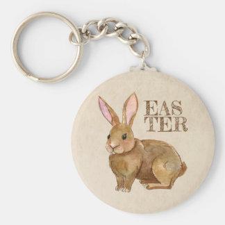 Aquarell-Osterhasen-Kaninchen Schlüsselanhänger