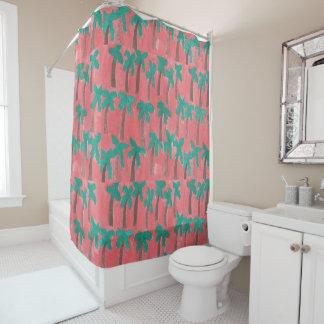 Aquarell-Palme-Duschvorhang Duschvorhang