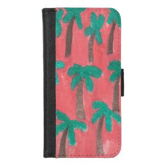 Aquarell-Palme-Geldbörsen-Kasten für iPhone 8 iPhone 8/7 Geldbeutel-Hülle
