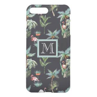 Aquarell-Palmen-Muster | addieren Ihre Initiale iPhone 8 Plus/7 Plus Hülle