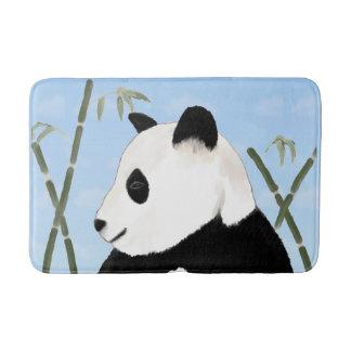 Aquarell-Panda-und Bambus-Bad-Matte Badematte