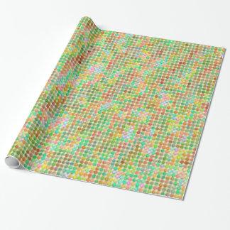 Aquarell-Pastell-Punkte Geschenkpapier