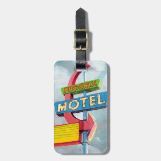 Aquarell-Phoenix-Motel Kofferanhänger