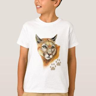 Aquarell-Puma-Puma, Berglöwe, Tier T-Shirt