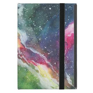 Aquarell-Raum-Nebelfleck-Galaxie iPad Mini Etui