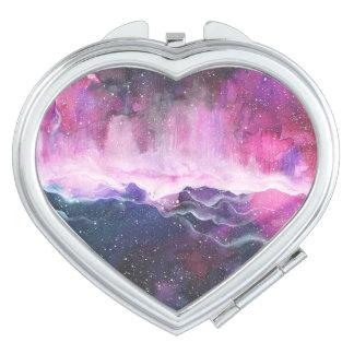Aquarell-Raum-Nebelfleck-Galaxie Schminkspiegel