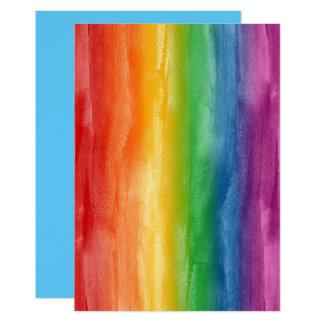 Aquarell-Regenbogen-Streifen 12,7 X 17,8 Cm Einladungskarte