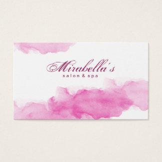 Aquarell-rosa modischer weißer Minimalist Visitenkarte