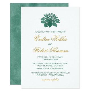 Aquarell-saftige Hochzeits-Einladung Karte