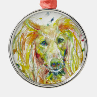 Aquarell SALUKI Silbernes Ornament