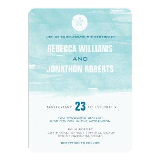 Aquarell-Sand-Dollar-Einladung - runde Ecken 12,7 X 17,8 Cm Einladungskarte