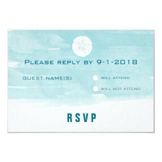 Aquarell-Sand-Dollar-Wartekarte Personalisierte Einladungskarte