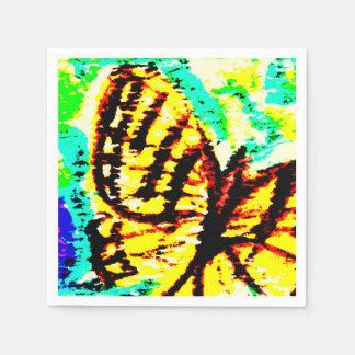 Aquarell-Schmetterling Papierserviette