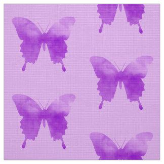 Aquarell-Schmetterlinge - Lavendel und Veilchen Stoff
