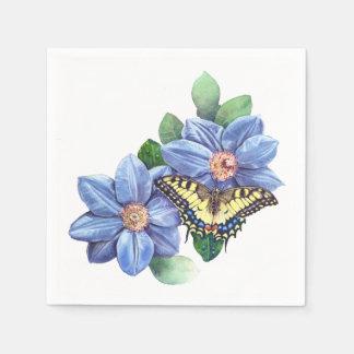 Aquarell-Schmetterlings-Cocktail-Papierservietten Serviette