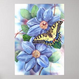 Aquarell-Schmetterlings-Plakat Poster