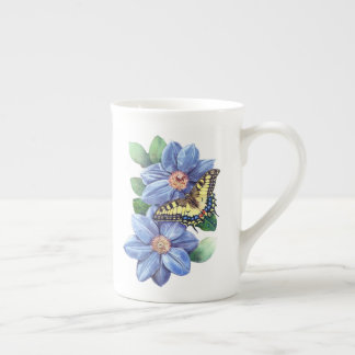 Aquarell-Schmetterlings-Tee-Schale Porzellantasse