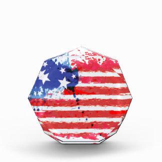 Aquarell-Schmutz amerikanische Flagge Auszeichnung