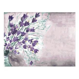Aquarell-Schmutzhintergrund mit Glocken Postkarte