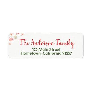 Aquarell-Schneeflocke-Adressen-Etiketten