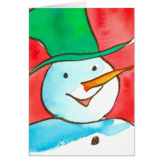 Aquarell schneemann karten - Aquarell weihnachten ...