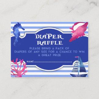 Watercolor Sea Life Baby Shower Diaper Raffle