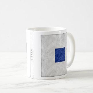 Aquarell-Seesignal-Seeflagge Kaffeetasse