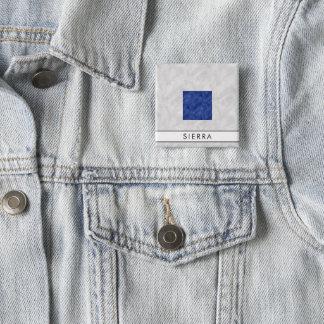 Aquarell-Seesignal-Seeflagge Quadratischer Button 5,1 Cm