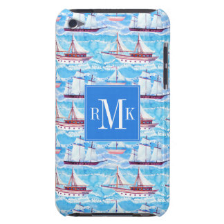 Aquarell-Segelschiff-Muster iPod Case-Mate Hülle