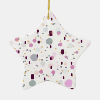 Aquarell-Spritzen-Effekt-Muster Keramik Stern-Ornament