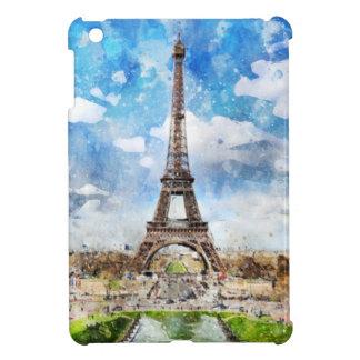 Aquarell-Stadtbild Paris, Eiffel in Richtung zu iPad Mini Hülle
