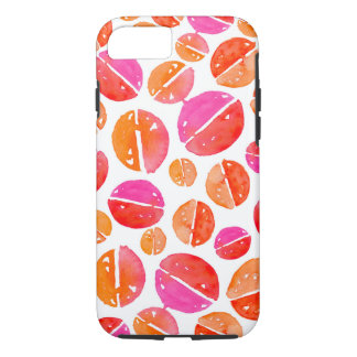 Aquarell-Stellen in rotem, rosa, orange iPhone iPhone 8/7 Hülle