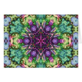 Aquarell-Stern-Kaleidoskop Karte