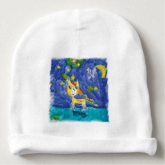 Aquarell-sternenklare Nacht Pegasus mit Schläger Babymütze