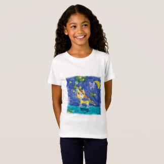 Aquarell-sternenklare Nacht Pegasus mit Schläger T-Shirt